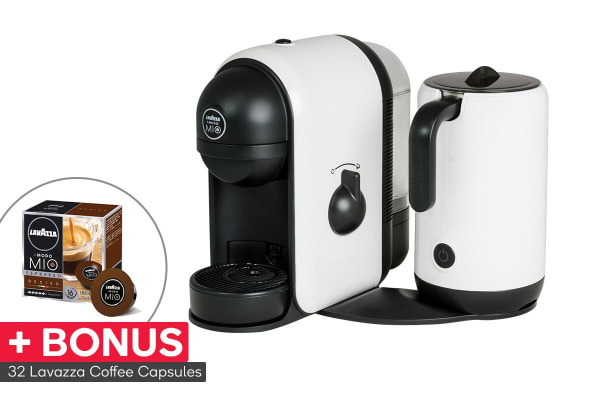 lavazza minu caffe latte coffee capsule machine with milk. Black Bedroom Furniture Sets. Home Design Ideas