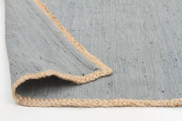 Reno Cotton and Jute Rug Blue 270x180cm