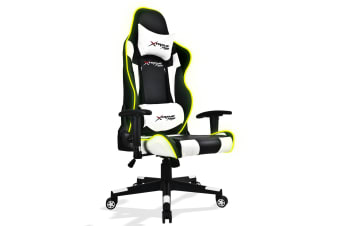 Xtreme Racing Gaming Office Chair LED Seat RGB PU Leather Computer Executive C