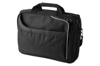 Avenue Security Friendly Business 15.4in Laptop Bag (Solid Black)
