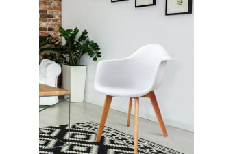Artiss 2x Retro Replica Eames DAW Dining Chairs Kitchen Chair Upgraded Armchair