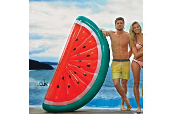 SunnyLife Giant Inflatable Watermelon Pool Raft Float