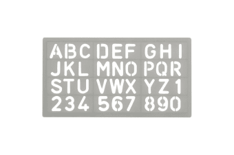 Celco Lettering Stencil 20mm Template Numbers/Letter Scrapbooking Alphabet Craft