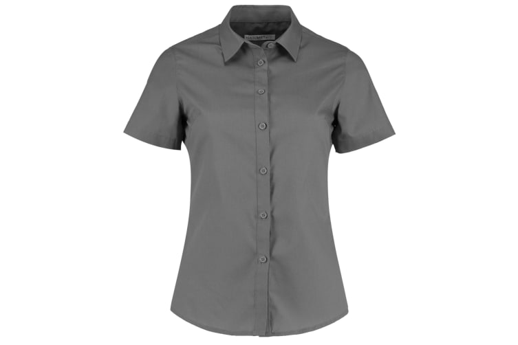 Kustom Kit Womens/Ladies Short Sleeve Poplin Shirt (Graphite) (8)