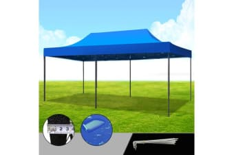 3X6M Blue Pop Up Folding Gazebo Outdoor Marquee Party Canopy