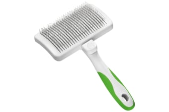 Andis Self Cleaning Slicker Brush For Dogs (White/Green) (One Size)