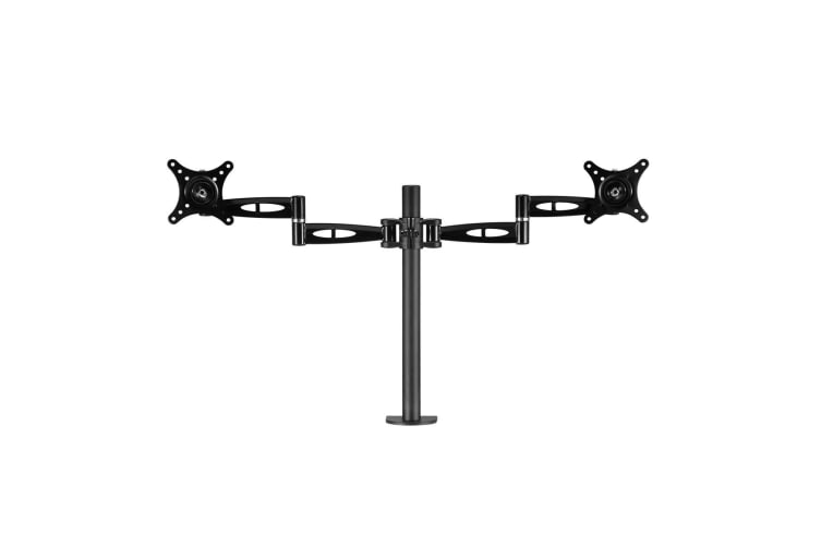 Fully Adjustable Dual Monitor Arm Smooth Gas Spring Movement
