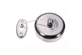 Dolphy Stainless Steel Retractable Round Cloth Liner Single Clothesline - Silver