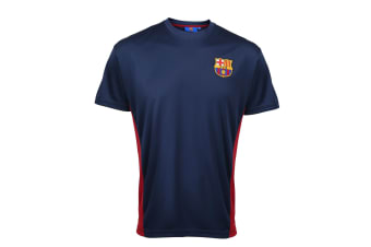 FC Barcelona Official Adults Performance T-Shirt (Navy)