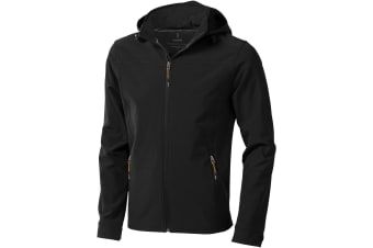 Elevate Mens Langley Softshell Jacket (Solid Black)