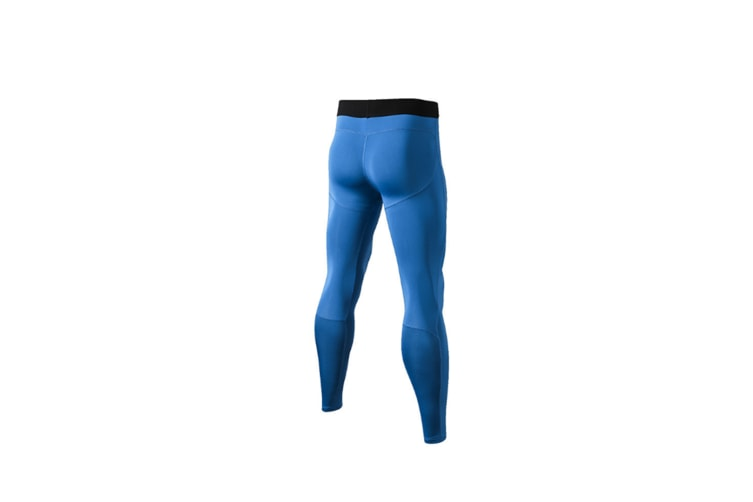 Men'S Compression Pants Cool Dry Baselayer Tights Leggings - Blue Blue XS
