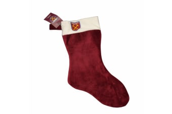 West Ham United FC Official Football Crest Design Christmas Stocking (Claret)