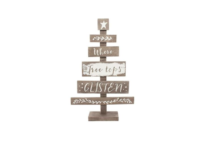 Something Different Wooden Christmas Tree (Brown/White) (One Size)