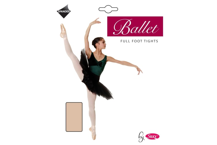 "Silky Womens/Ladies Dance Ballet Tights Full Foot (1 Pair) (Ballet Pink) (Small (4ft11""-5ft4""))"