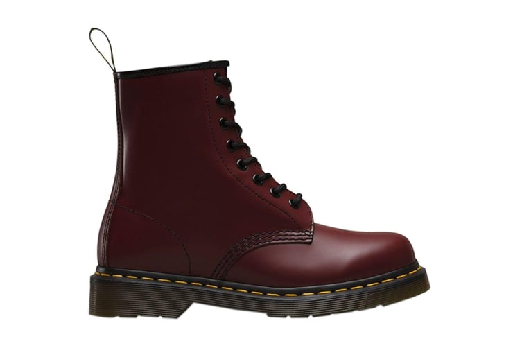 Dr. Martens 1460 Smooth Leather Hi Top Shoe (Cherry Red, Size UK 8)
