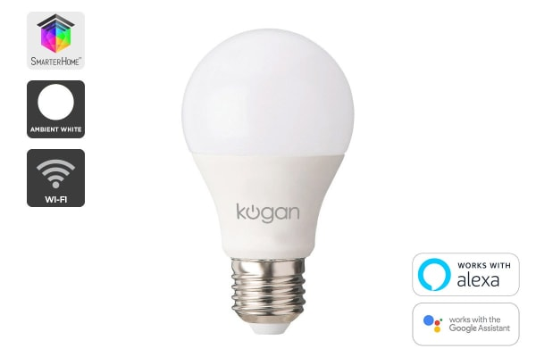 Kogan SmarterHome™ 10W White Smart Bulb (E27)