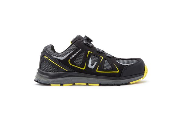 King Gee Comp-Tec BOA Work Shoes (Black/Yellow, Size 9)
