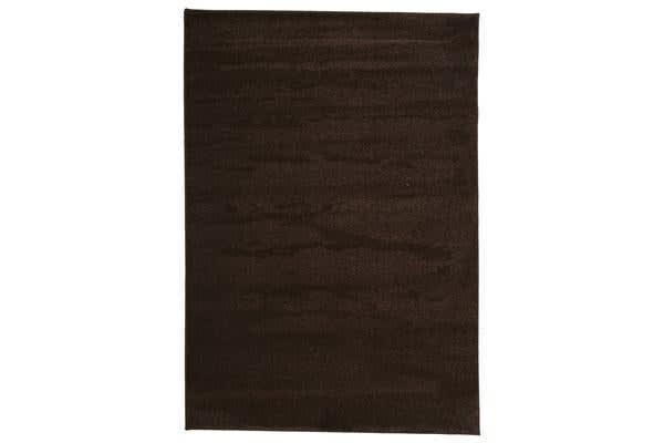 Dense Plain Brown Coloured Rug 230x160cm