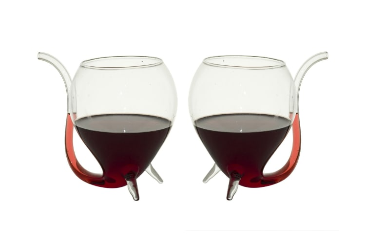 Set Of 2 Wine Sippers