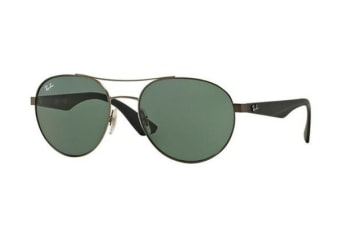 Ray-Ban RB3536 55mm - Matte Ruthenium (Grey Green lens) Unisex Sunglasses