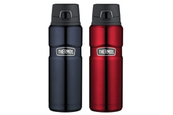 2pc Thermos 710ml Vacuum Insulated Stainless Steel Flask Bottle Midnight Blue RD