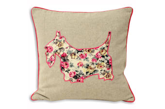 Riva Home Sweet Cottage Scottie Dog Cushion Cover (Rose) (45x45cm)
