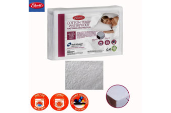 Corner Straps Cotton Terry Waterproof Mattress Protector by Easyrest