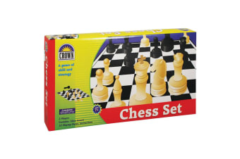 Crown Chess Board Portable Strategy Game Kids/Children 7y+ Chessboard Toy Set
