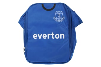 Everton FC Childrens Boys Official Insulated Football Shirt Lunch Bag/Cooler (Blue)