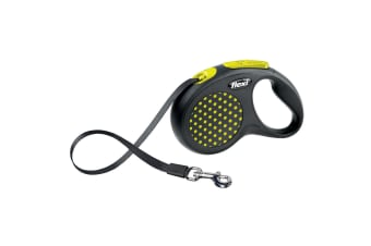 Bogdahn International Flexi Design Tape Dog Lead (Yellow Dot)