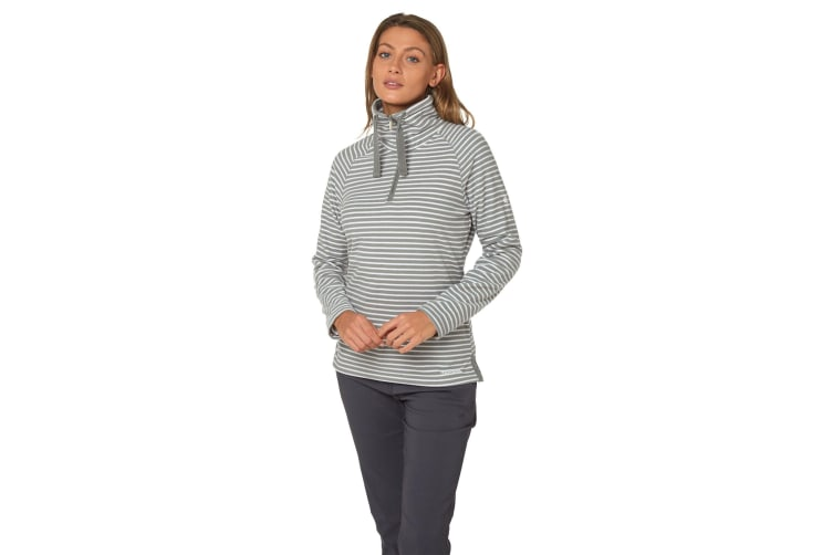 Craghoppers Womens/Ladies Rhonda Half Zip Fleece (Cloud Grey Stripe) (8)