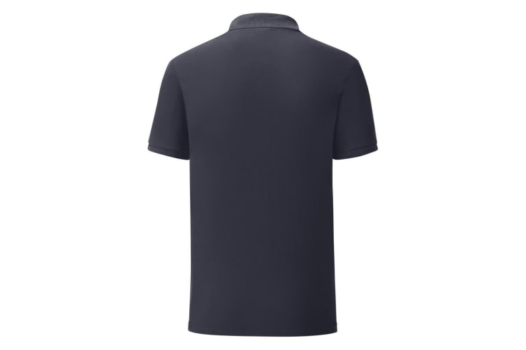 Fruit Of The Loom Mens Iconic Pique Polo Shirt (Deep Navy) (M)