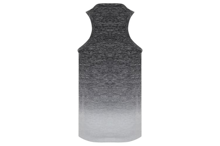 Tombo Childrens Girls Seamless Fade-Out Vest (Dark Grey/Light Grey Marl) (7-8 Years)