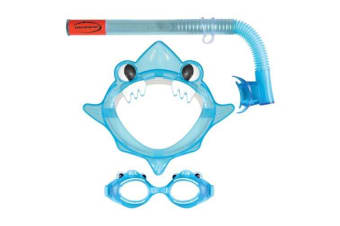 Mirage Aqua Junior Mask & Snorkel Set Blue