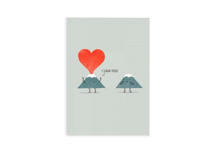 Ohh Deer I Lava You Greeting Card (Multicoloured) (One Size)
