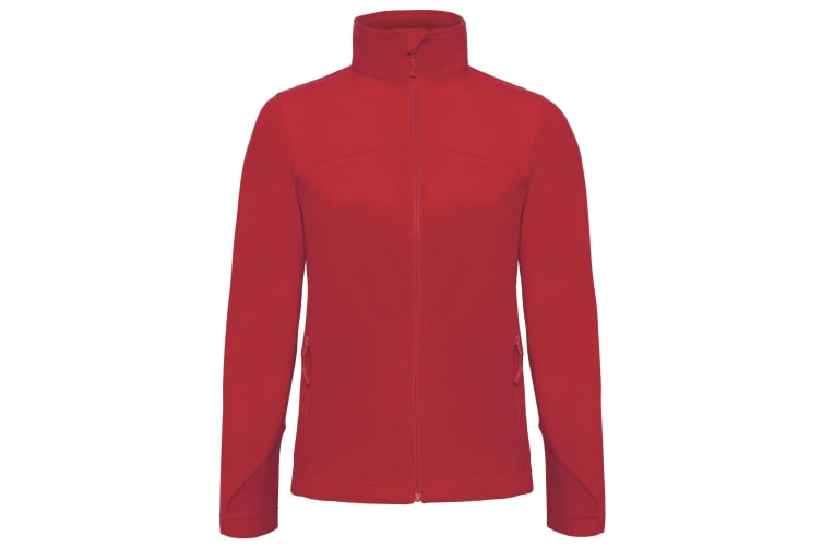 B&C Womens/Ladies Coolstar Full Zip Fleece Jacket (Deep red) (XL)