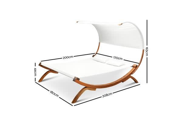 Gardeon Outdoor Double Hammock Bed with Canopy