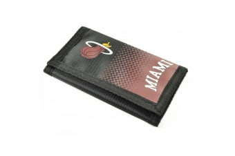 Miami Heat Official NFL Tri Fold Wallet (Black/Burgundy) (One Size)
