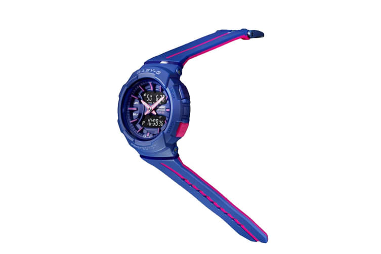 Casio Baby-G Analog Digital Female Watch with Resin Band - Purple/Pink (BGA240L-2A1)