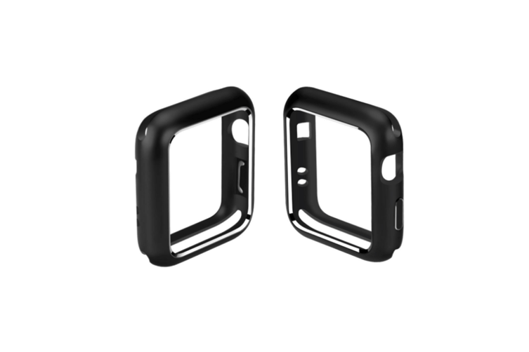 Case For Apple Watch Series 4 Magnet Adsorption Cover Ultra Thin Metal Frame Black 44Mm