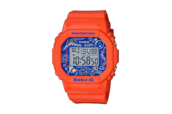 Casio Baby-G Digital Retro 90's Female Watch with Resin Band - Orange (BGD560SK-4D)
