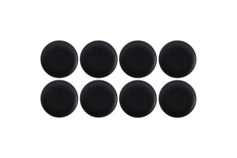 8pc Maxwell & Williams 20cm Caviar Coupe Serving Tableware Side Plate Black