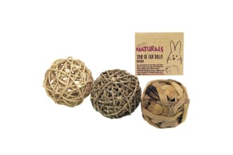 Rosewood Naturals Fun Ball Trio (Pack Of 3) (Brown) (One Size)