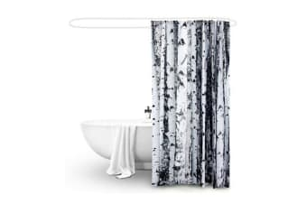 New Polyester Waterproof Bathroom Shower Curtain BIRCH 180x200cm
