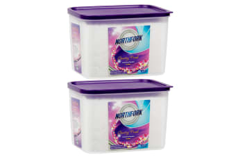 2x Northfork 2.5kg Laundry Detergent Powder Floral for Front & Top Loader Wash