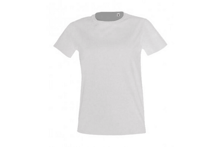 SOLS Womens/Ladies Imperial Fit Short Sleeve T-Shirt (Heather Khaki) (XXL)