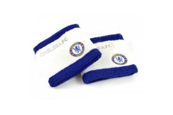 Chelsea FC Official Football Sweatbands (Set Of 2) (Blue/White)
