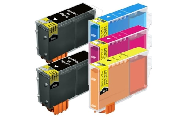 BCI-3 Black / Bci-3 Bci-6 Colours Compatible Inkjet Cartridge Set  5 Ink Cartridges