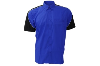 Formula Racing® Sebring Short Sleeve Shirt / Mens Shirts (Royal/Black/White)