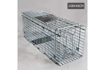 Humane Animal Trap Cage 108 x 40 x 45cm (Silver)